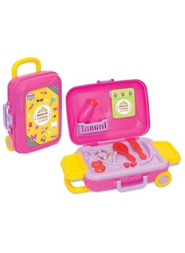 Nanica Kids Dede Candyken 18 Parça Evcilik Güzellik Kız Oyuncak Seti Bavulum Mavi